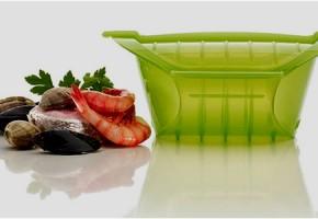 La cocotte en silicone, facile à utiliser et à laver
